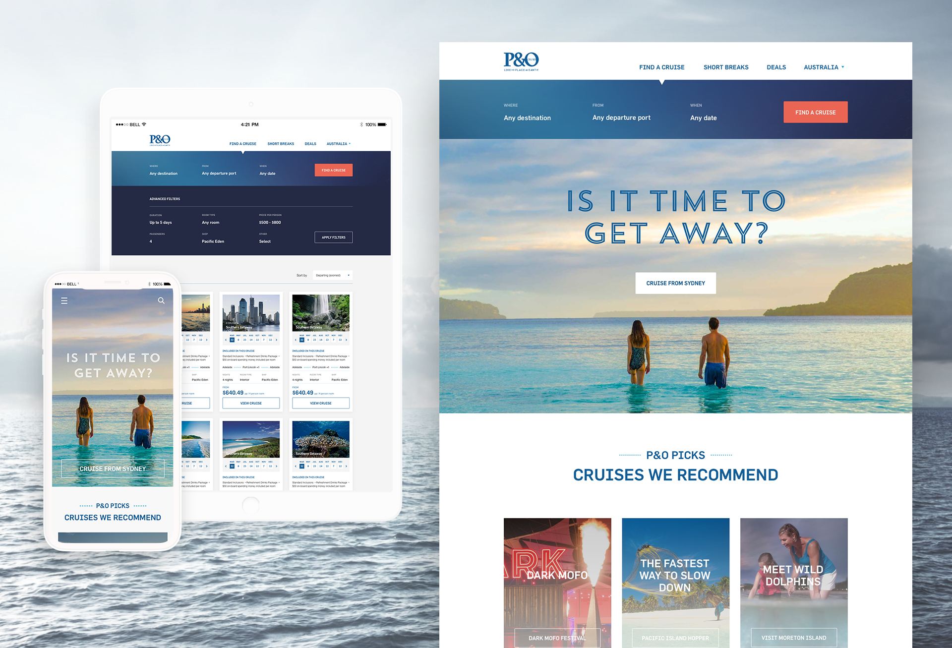 P&O Cruises website